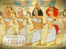 Egyptian Walk Small Calendar Pix